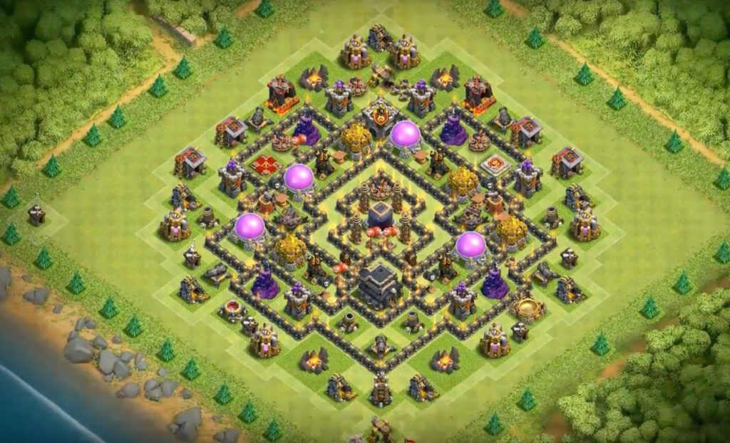 clash of clans th9 base layouts