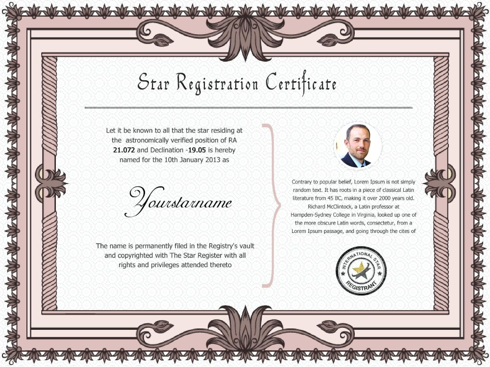 Collection Of Solutions For Star Naming Certificate Template Also For Star Naming Certificate Template 10 Profes Certificate Templates Templates Certificate