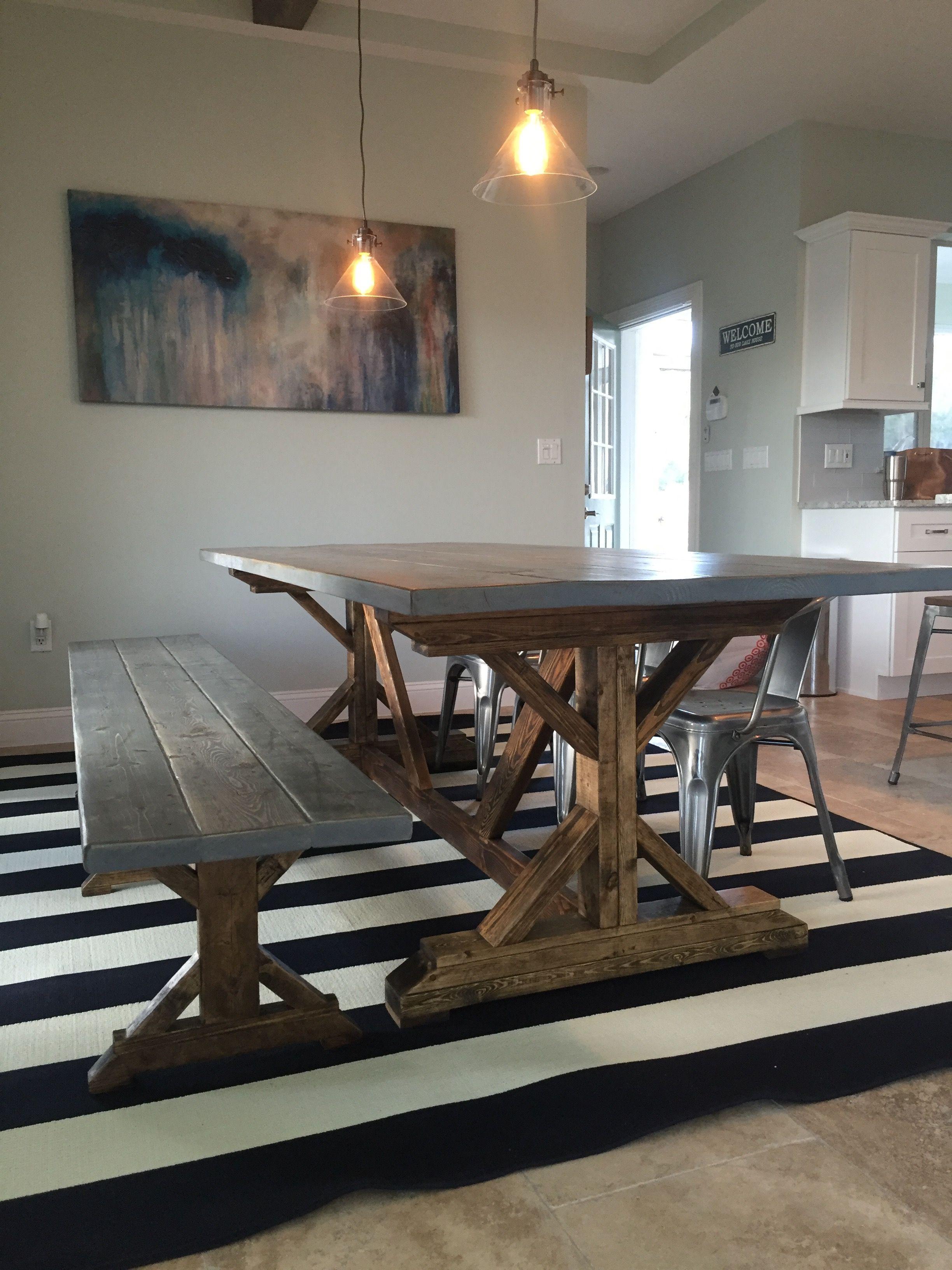 Distressed fancy x farmhouse table fancy farmhouse table