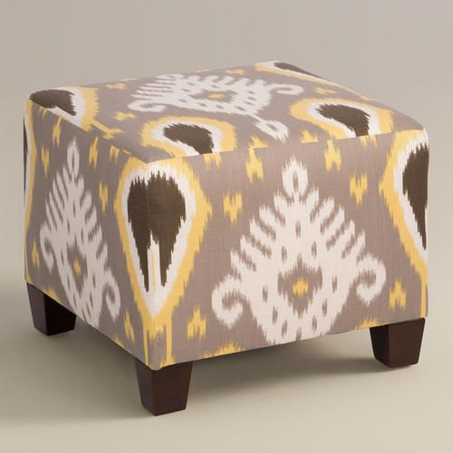 One of my favorite discoveries at WorldMarket.com: Citrine Ikat Lela Ottoman