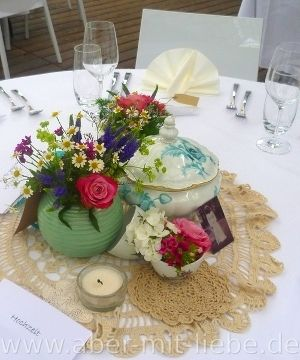Hochzeitsdeko Vintage Tischdekoration Romantische Deko Www Aber