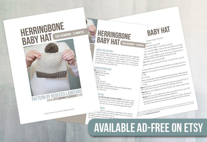 Herringbone Baby Hat | Pinterest | Gorro tejido, Espinillas y Recién ...