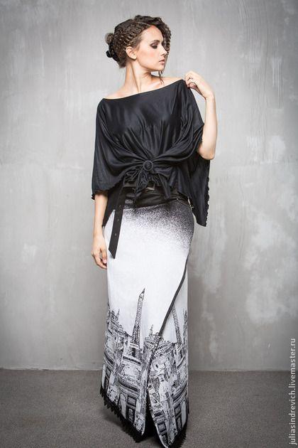 ГА_007 Блуза Квадро черная - чёрный,однотонный,блуза,блузон,топ,дизайнерская одежда