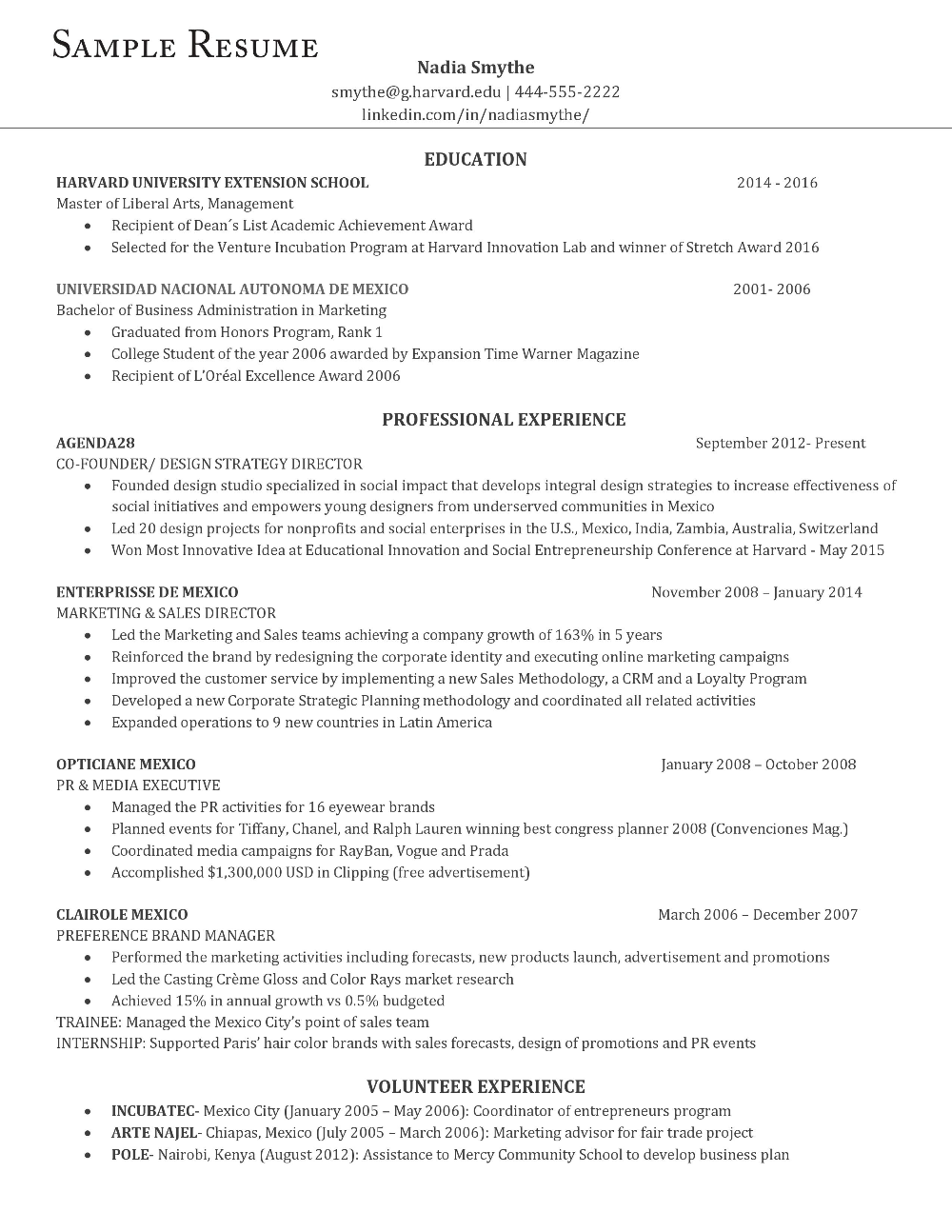 Here's an example of the perfect resume, according to