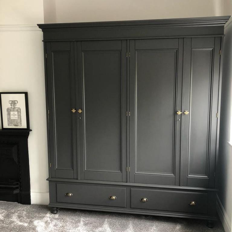 Valspar Paint Color Painted Wardrobe Grey Bedroom Paint Alcove Wardrobe