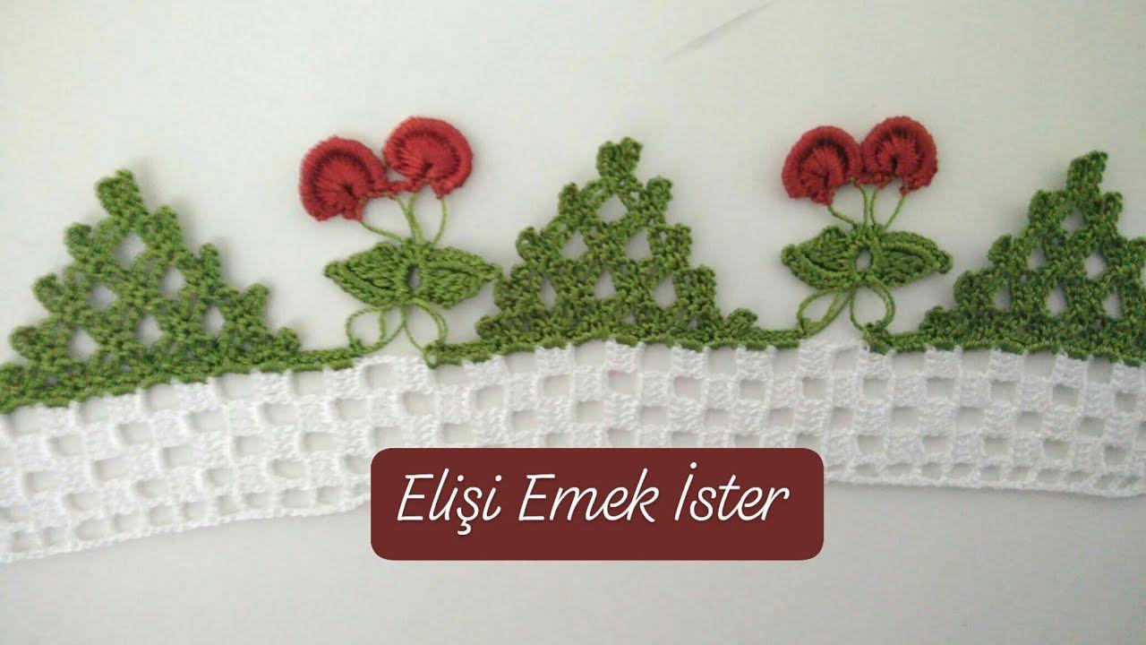 Üzümlü Çeyizlik Havlu Kenarı Modeli Yapılışı Anlatımlı Türkçe Videolu