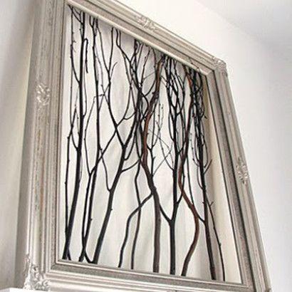 Branch Wall Art #rusticcrafts