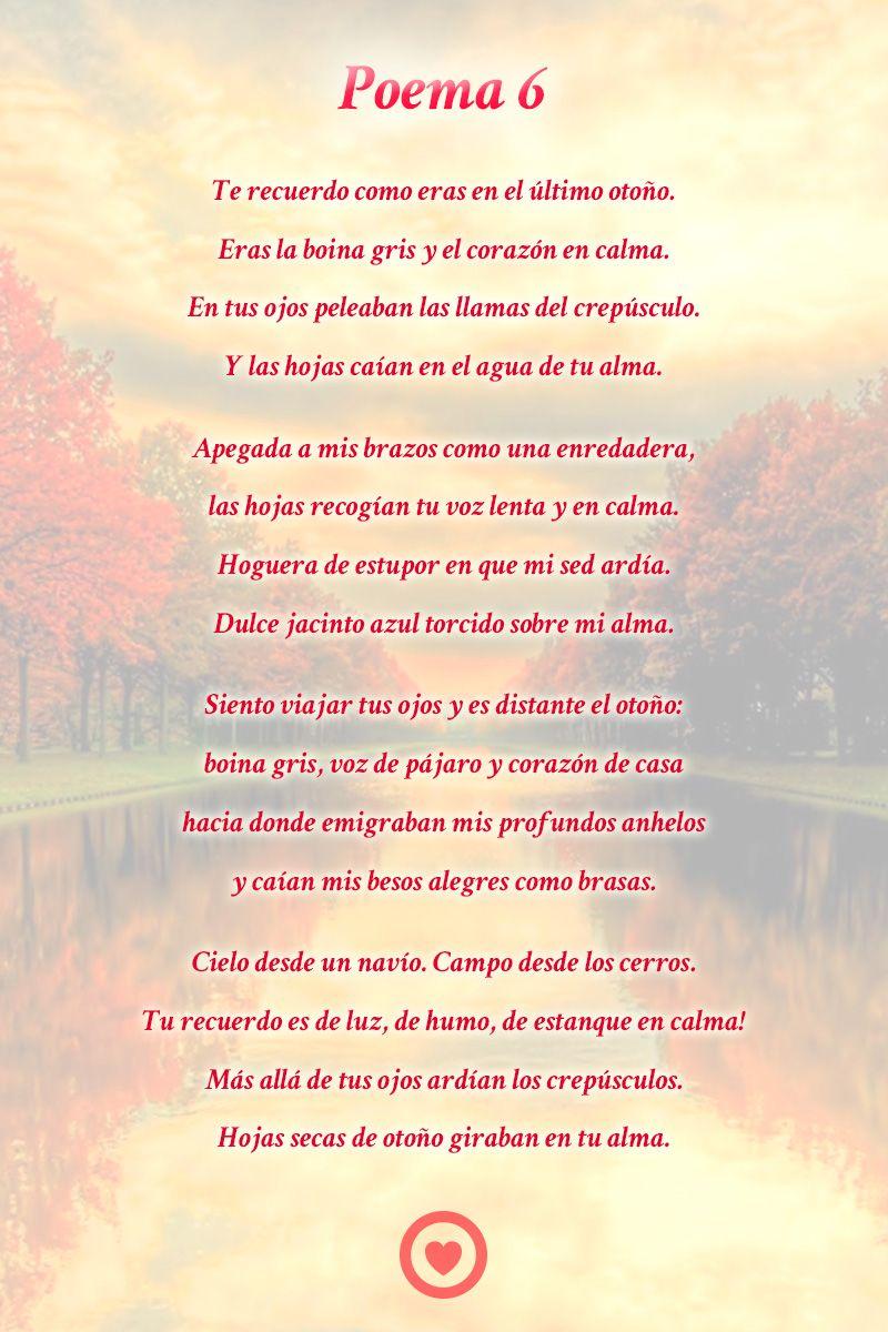 Poema 6 Pablo Neruda Poemas Poemas De Amor Neruda