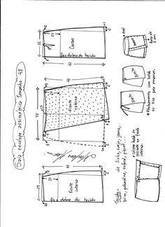 f7238bc10 Patrón de falda asimétrica | Sewing | Patrones de costura, Coser ...