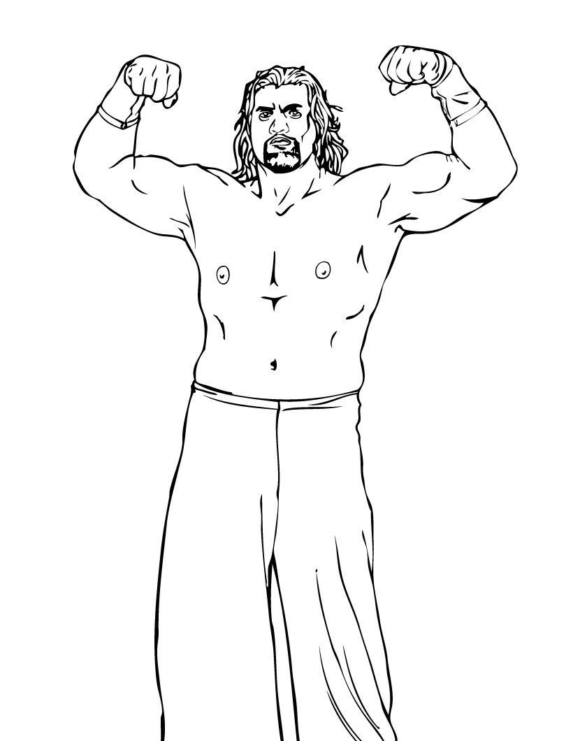 Wrestlers (6)[1] Printable - Wrestling WWE Coloring Pages | birthday ...
