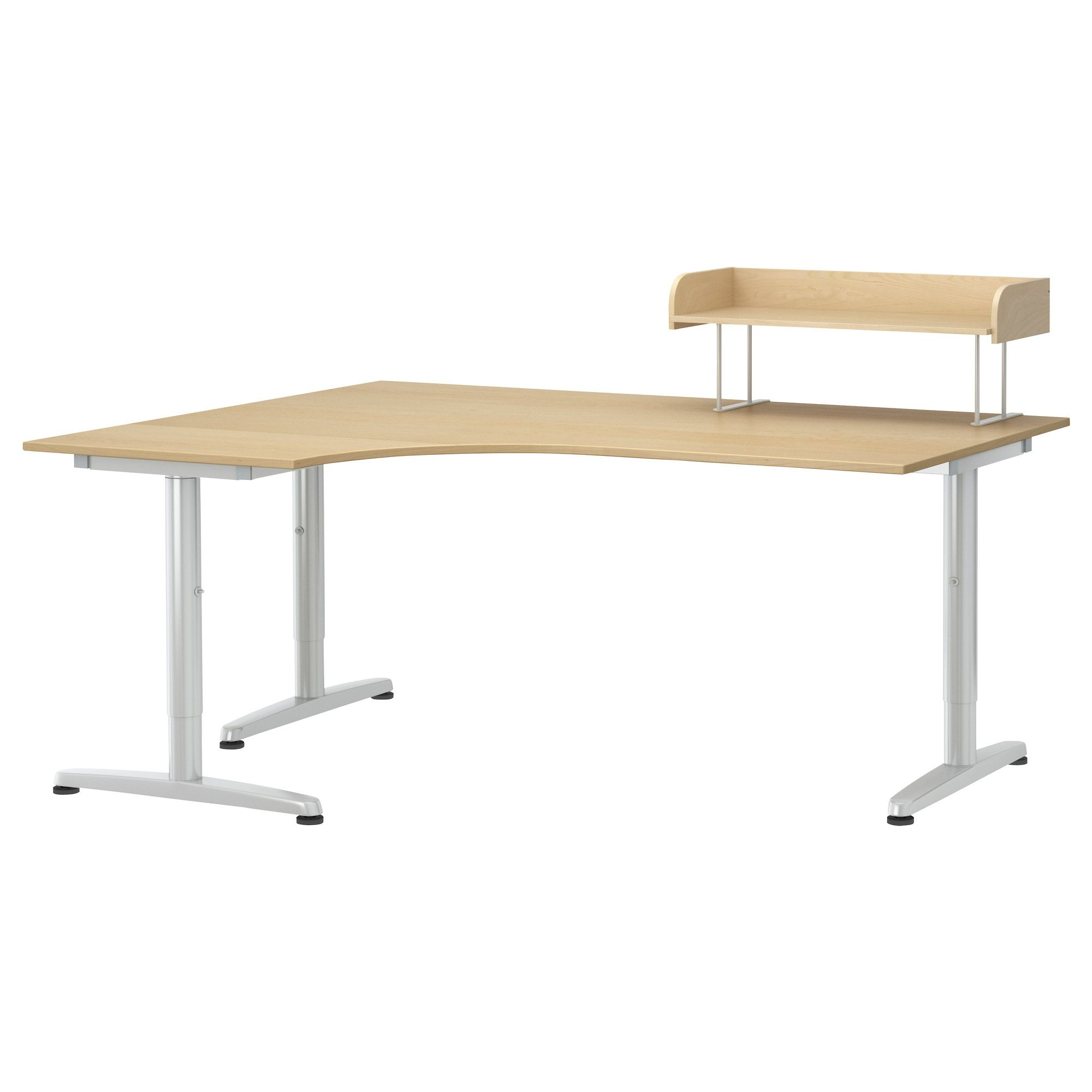 Corner Desk Using Ikea Galant Top And Alex Drawer Units By Bertha Home Office Design Ikea Corner Desk Ikea Galant