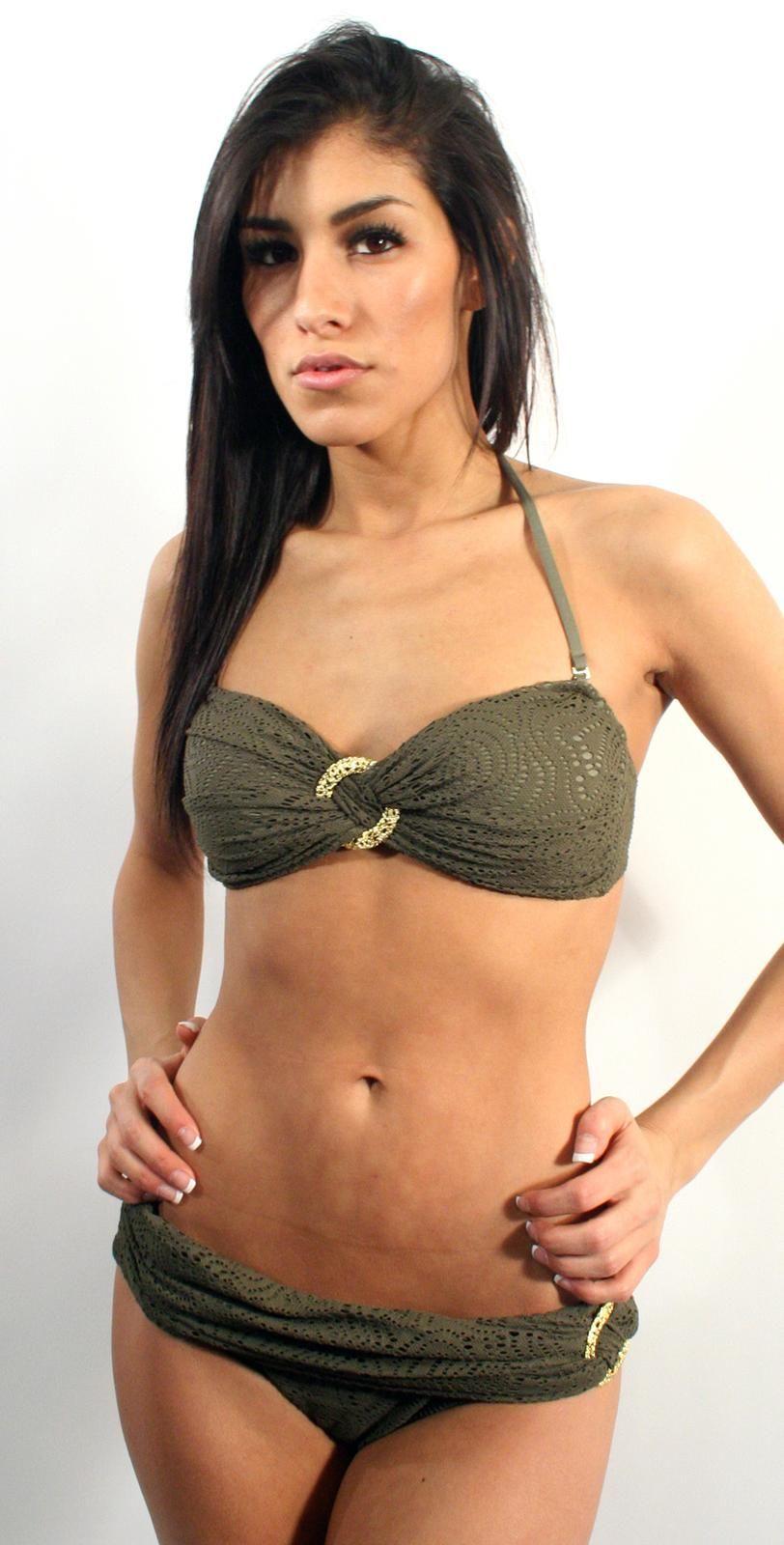 Trina Turk Cassis Crochet Bandeau Bikini trina bandeau