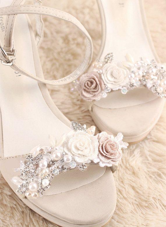 4b43eaffb wedding shoe clip bridal shoe clip white shoe clips by GadaByGrace