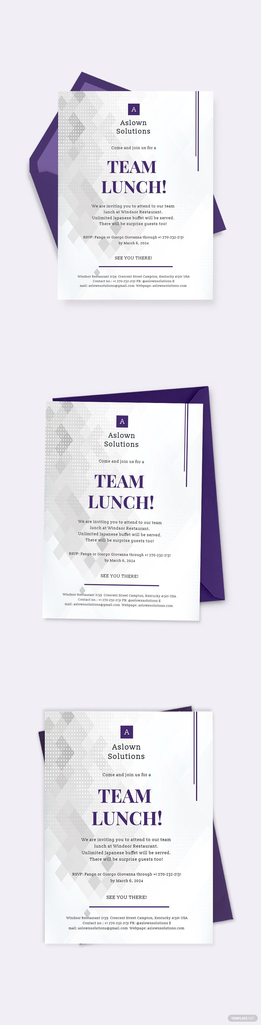 Team Lunch Invitation Template Word Doc Psd Apple Mac Pages Google Docs Illustrator Publisher Outlook Invitation Template Lunch Invitation Word Doc