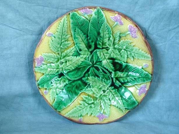 Majolica glazed plate illustrates the Victorian Fern Craze & The Victorian Fern Craze - Google Search   Majolica   Pinterest ...