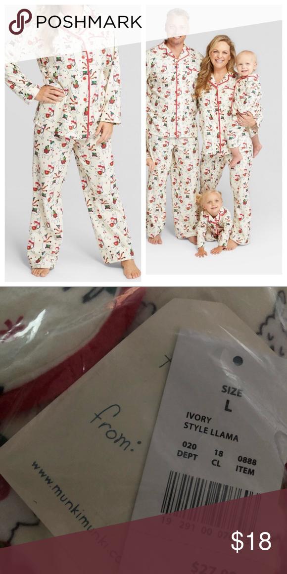 c7b5ec154a7a1 Nite Nite Munki Munki Holiday Llama Pajama Set New with tags. munki munki  Intimates & Sleepwear Pajamas