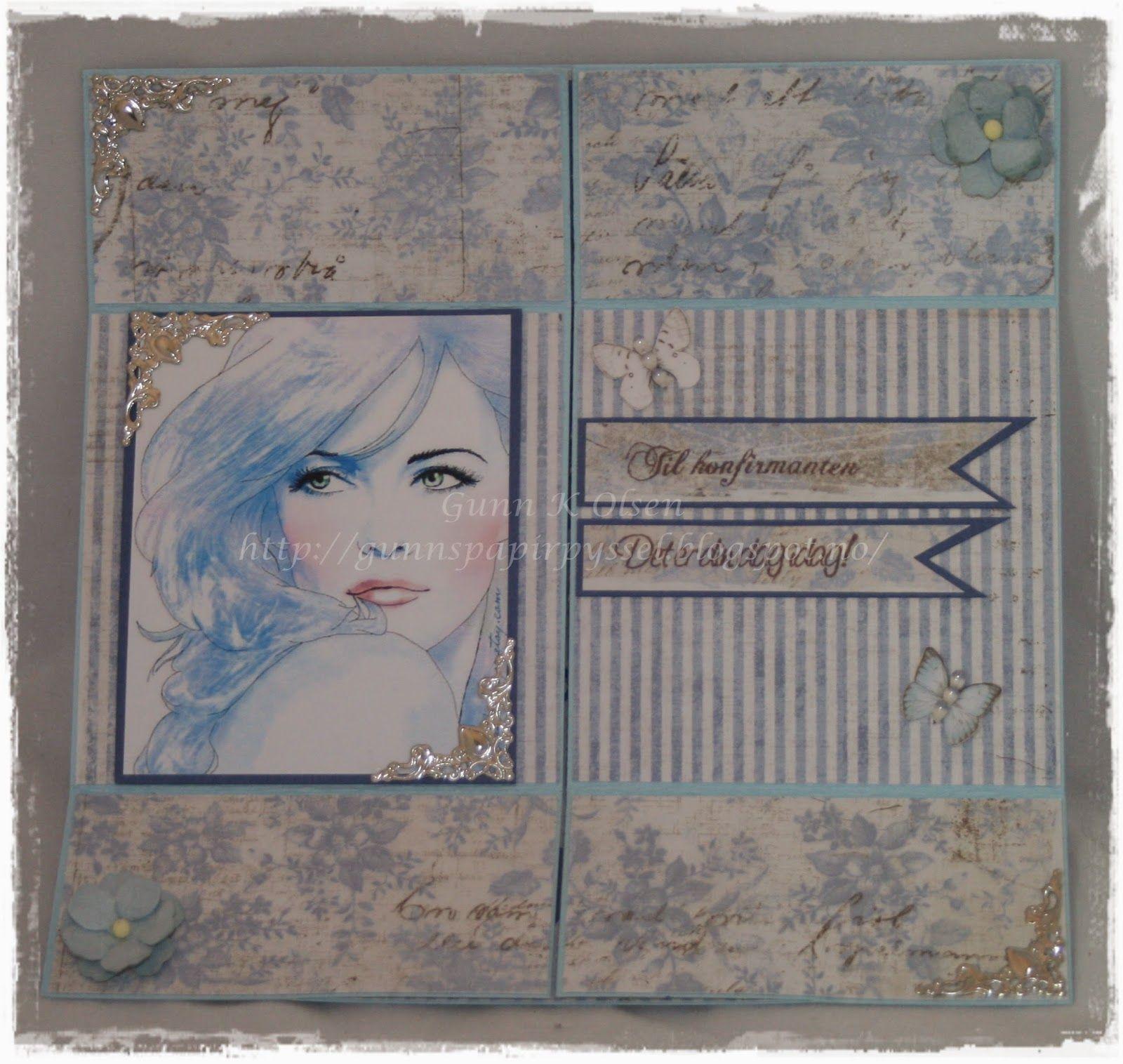 Gunns Papirpyssel, Never Ending Card, Neverendingcard, kort, papirbretting, paperfolding, Maja Design, Konfirmasjon, papir, paper