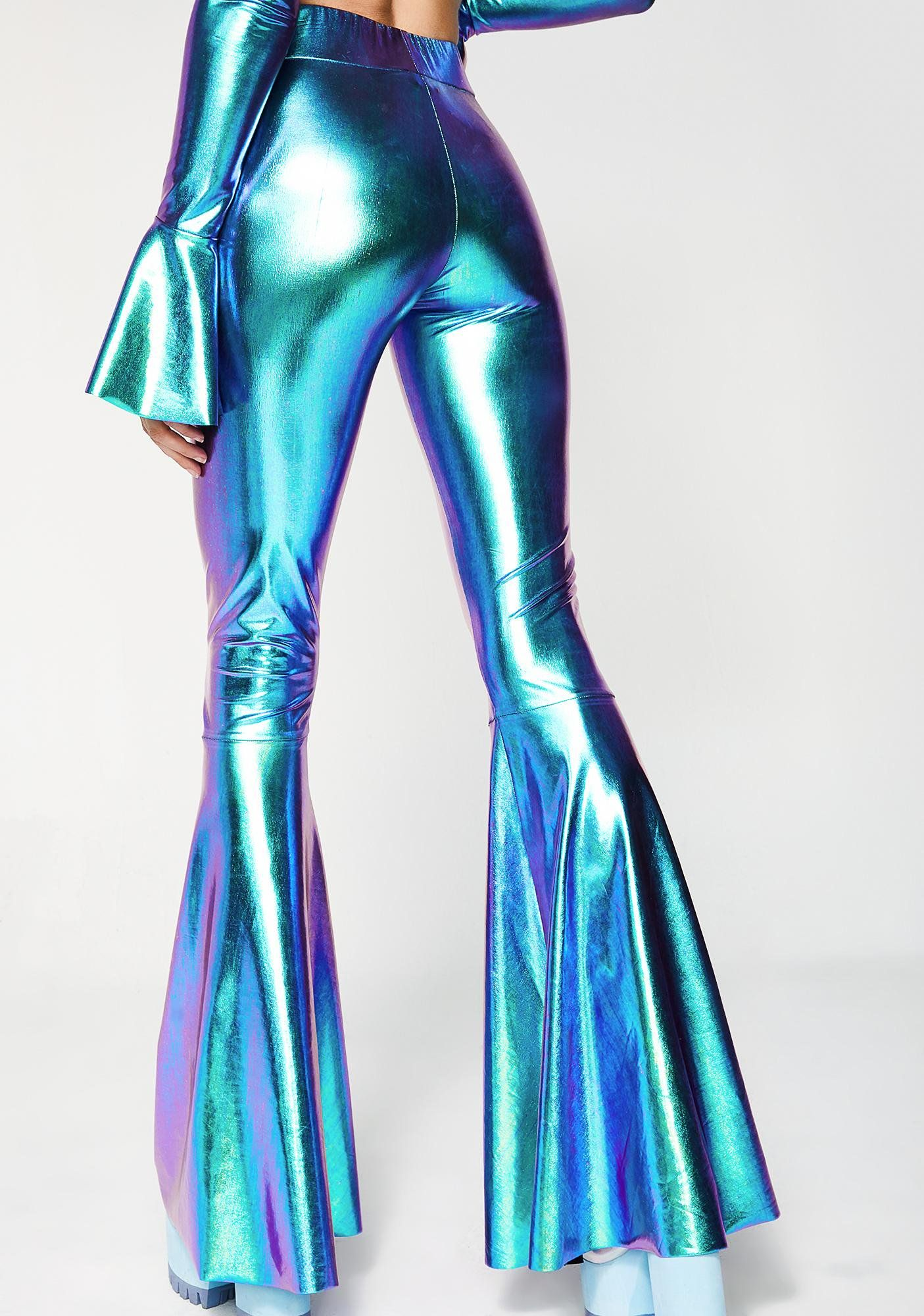 Shimmy Shimmy Ya Bell Bottoms | Bell bottoms, Iridescent and Rave ...