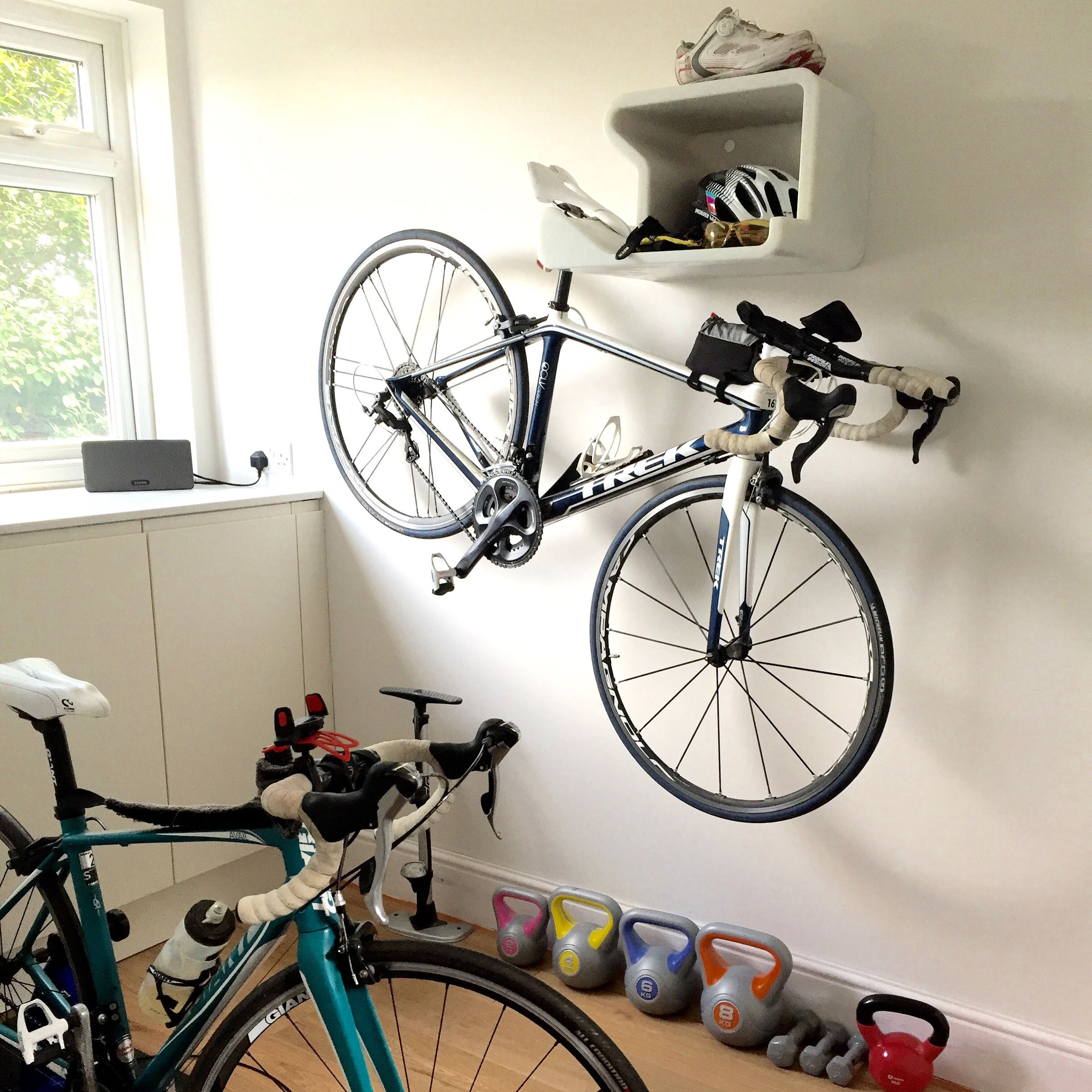 Make Space For Some Weights Below Your Bike Bike Rack And Shelf