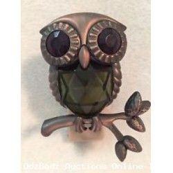 Bath & Body Works Wallflower OWL Scent Diffuser Plug In Green Gem Eyes NEW Retired