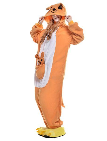 Disney Orange Squirrel Kigurumi Pyjamas Cartoon Adults Cosplay Sleepwear