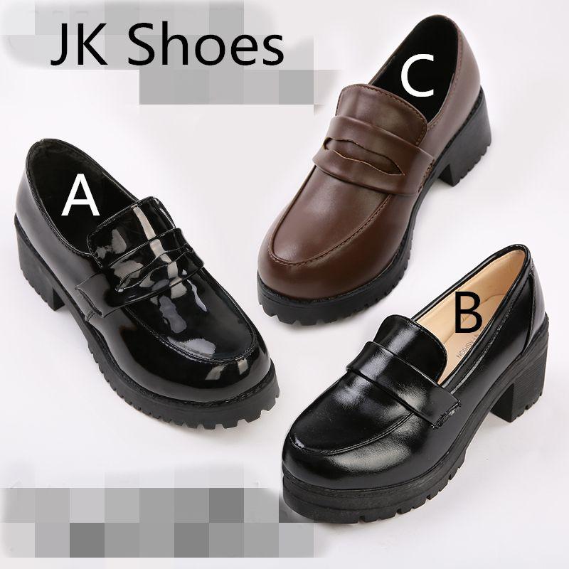 fe16604a4b6 JK Japanese School Shoes Student Uniform Suits Shoes Girl Lolita shoes  Cosplay Shoes