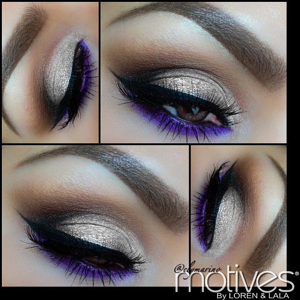 elymarino creates a golden eye with a pop of purple