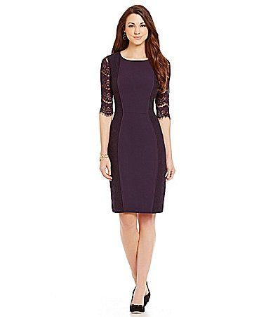 af6e7dd617 Antonio Melani Playing Favorites Ivy Lace Overlay Dress  Dillards ...