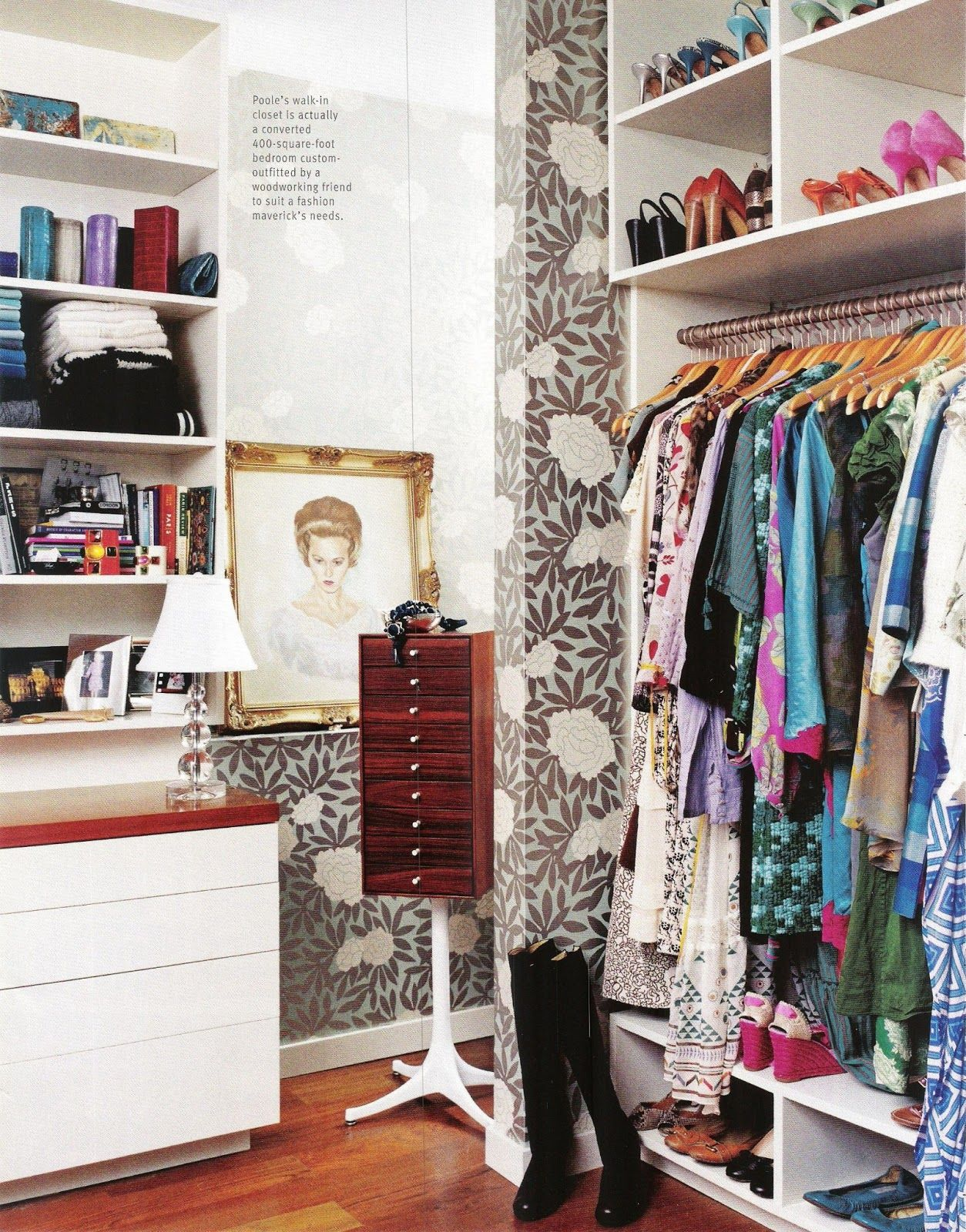 Closet Of Laura Vinroot Poole, Owner Of High Fashion Boutique, Capitol, In