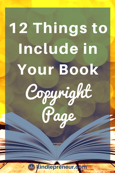 Book Copyright Page Examples For Your Ebook Writing A Book