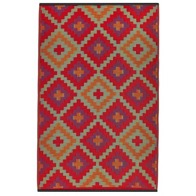 Saman Orange And Violet Fab Habitat Rugs Plastic Rug