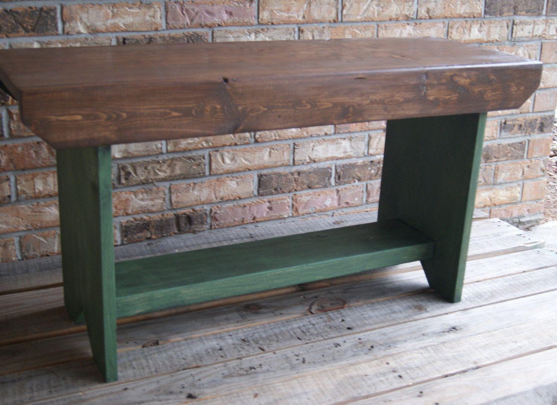 Rustic+Bench++Shabby+Chic+Green++bench+Distressed+by+FurnitureFarm,+$89.00