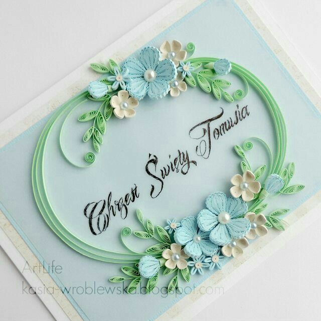 Beautiful Quilled Card Quilling Designs Paper Quilling Patterns