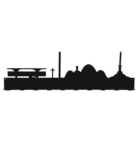 Simples e versátil, o cabideiro de parede Skyline retrata o horizonte de capitais brasileiras e seus principais pontos turísticos.    www.desmobilia.com.br