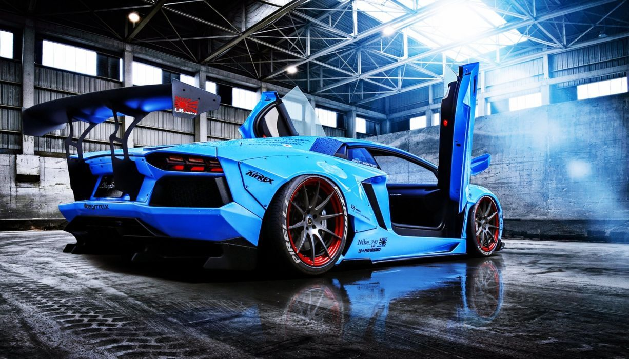 Aventador Beam Blue Cars Doors Lamborghini Liberty Lp720 4 Motors Perfomance Race Rear Speed Supercar Wallpaper Lamborghini Aventador Luxury Cars Lamborghini