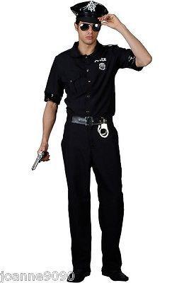 Policeman Police Cop Fancy Dress Costume Uniform Hat Glasses New York American Men S Fancy Dress Fancy D Cop Fancy Dress Cop Costume Police Man Fancy Dress