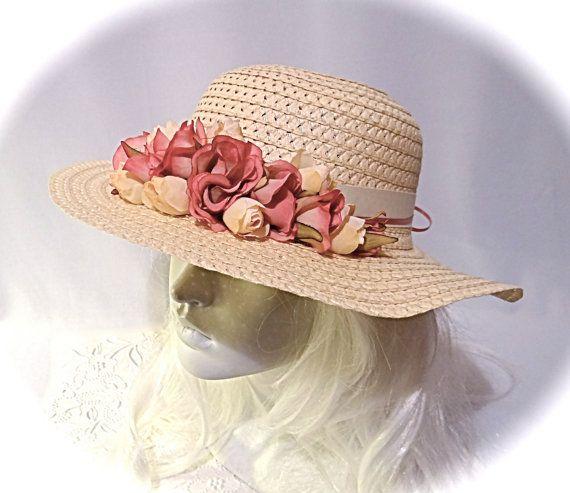e3ba901d01b Large Girls Sun Hat Tea Party Hats Flower Girl by Marcellefinery ...