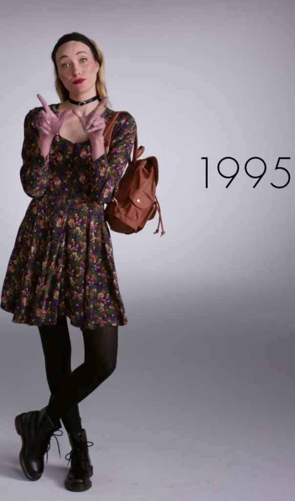 Watch 1 Woman Wear 100 Years of Fashion Trends in 2 Minutes | Fashion 90s fashion and 1990s