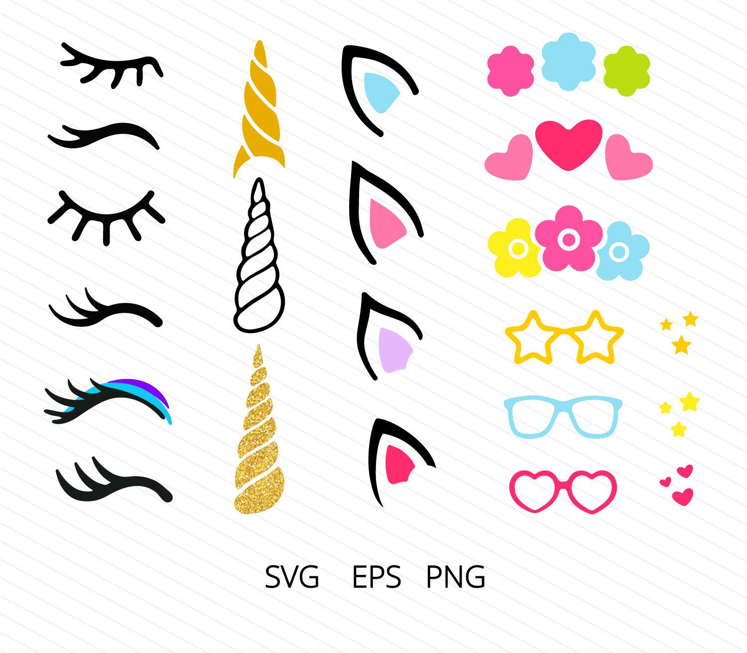 Unicorn kit svg Unicorn SVG Unicorn head Svg Unicorn horn
