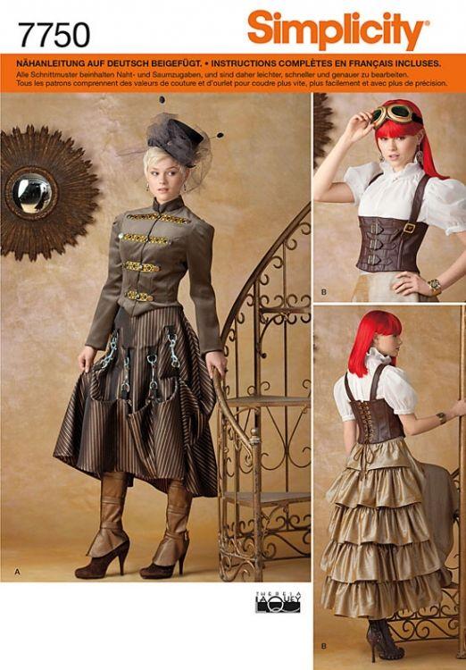 7750 Simplicity Schnittmuster Fantasy Kostüm | Steampunk | Pinterest ...