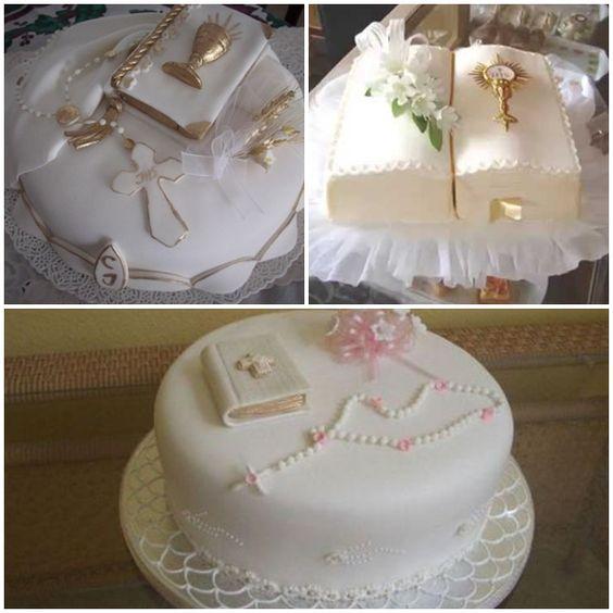 Tortas o pasteles para primera comunion de ni a for Decoracion de tortas para ninas