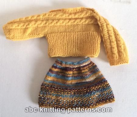 ABC Knitting Patterns - American Girl Doll Cuff-to-Cuff Cable ...