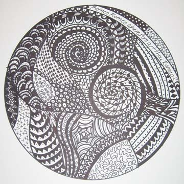 professional artist zentangle thick and thin lines ...