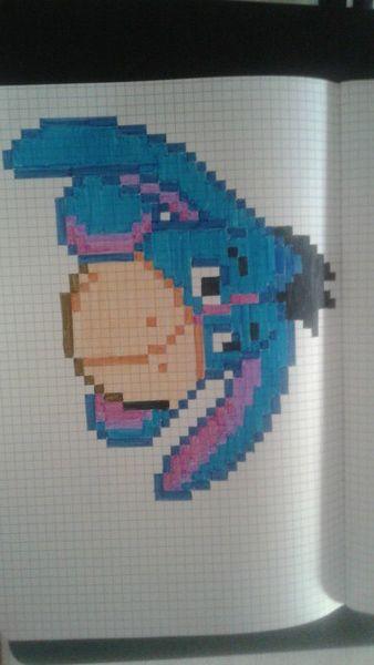 Bourriquet Dessin Pixel Coloriage Pixel Art Et Coloriage