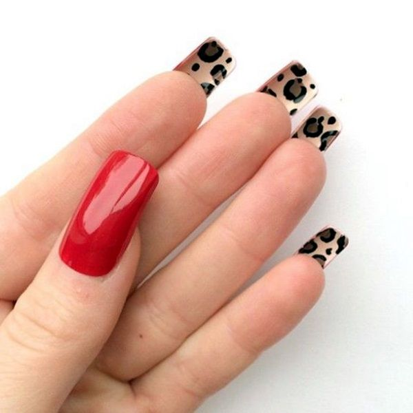 Leopard Prints Nail Art (12)
