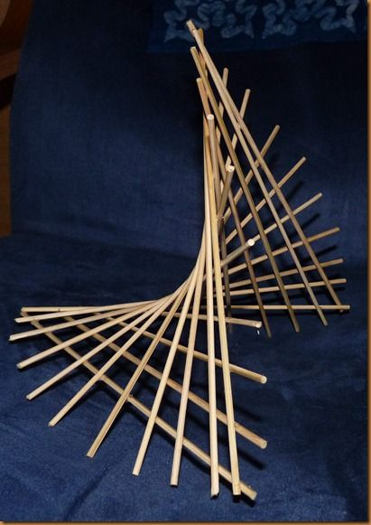 bamboo hyperbolic paraboloid studehome pinterest maquette bambou et g om trie. Black Bedroom Furniture Sets. Home Design Ideas