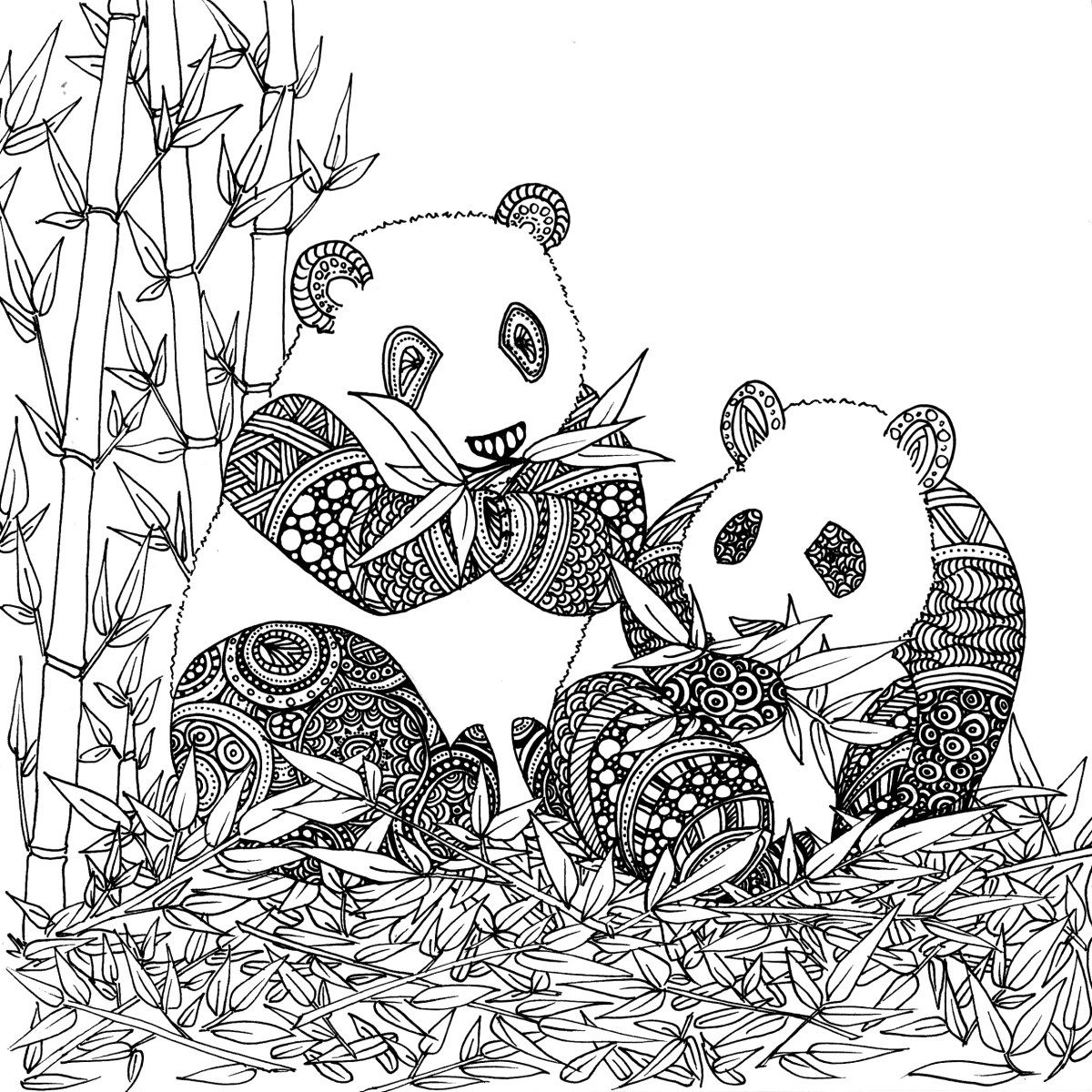 Coloriage De Animaux Panda A Imprimer Par Chocobo Coloring Pages