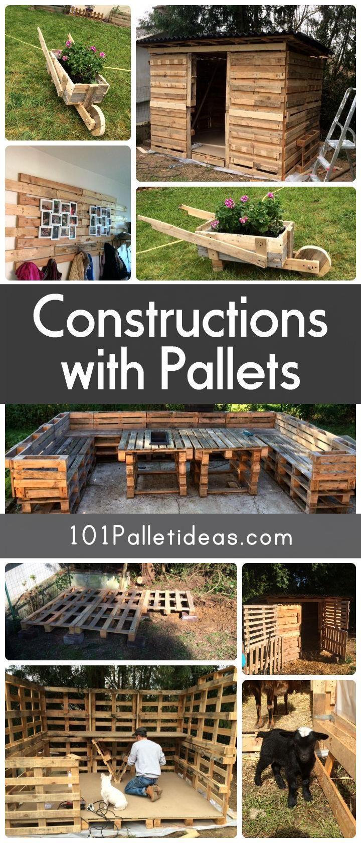 Amazing Constructions With Pallets Meuble Jardin Palette Palette Diy Palette Exterieure