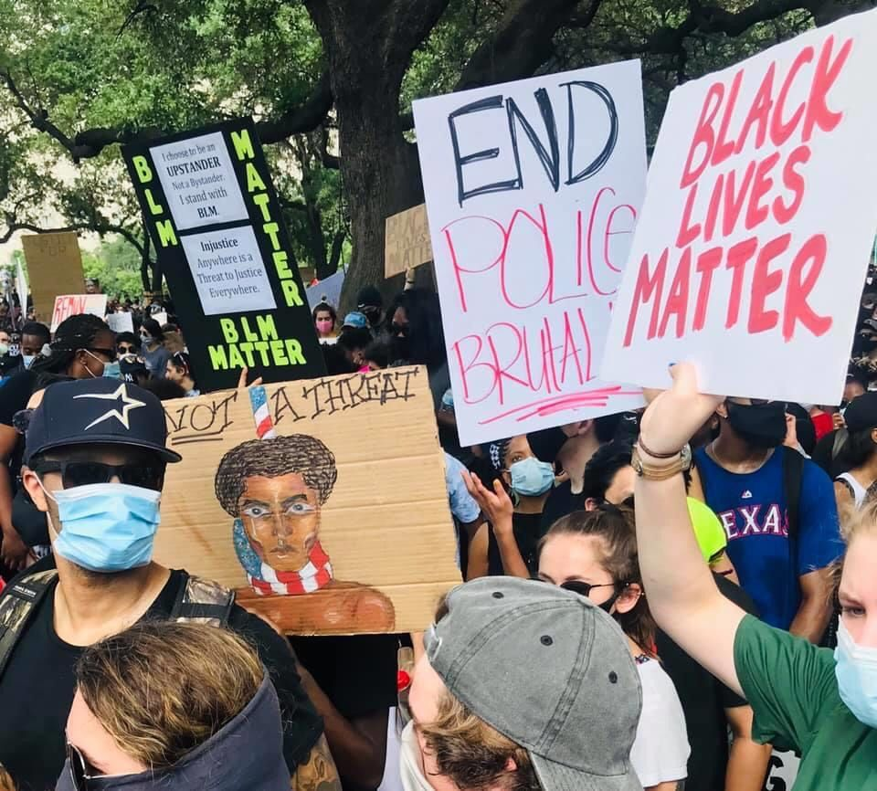 60 000 People Attend Black Lives Matter Protest In Houston United States Hypocrisy Black Lives Matter Protest Black Lives Matter Black Lives