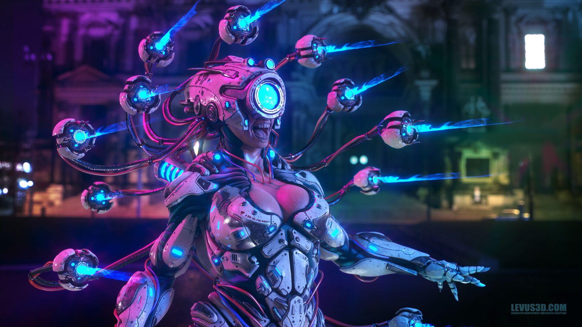 All Seeing Sue by Pawel Jaruga Robots concept, Cyberpunk